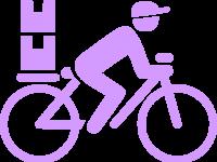 Bici mensajeria icono